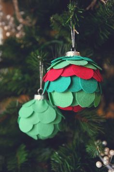 eighteen25: Felt Ornaments