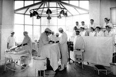 Hospital interior 1920s: Where the doctor operated on Vesa Leka