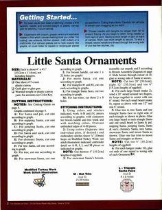 Little Santa Ornaments 2/4