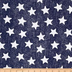 Michael Miller Star Struck Navy from @fabricdotcom  Designed for Michael Miller Fabrics, this cotton print features a star motif.  Perfect for quilting, apparel and home décor accents.  Colors include white and navy.