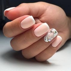 ногти нюд, маникюр, нейл арт с бабочкой, nail art, design nails, manicure