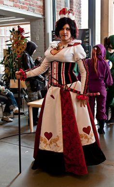 Queen of Hearts costume. Alice in Wonderland