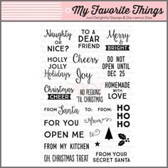 My Favorite Things Clear Stamp - Gift Tag Greetings