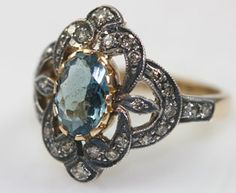 beautiful setting.  Edwardian Aquamarine Diamond Ring