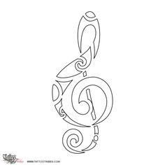 Tatuaggio di Chiave di violino, Musica tattoo - custom tattoo designs on TattooTribes.com
