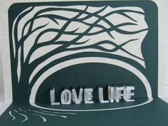 LOVE LIFE  3D Pop Up Greeting Card Home Décor With by BoldFolds, $30.00