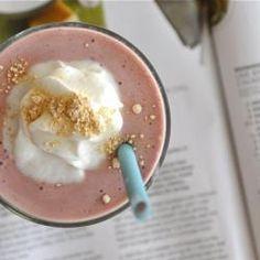 Almond Nutter   1 scoop Tropical Strawberry Shakeology  1 cup almond milk  1 tbsp peanut butter