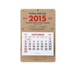 Field Notes 2015 18-Month Work Station Calendar