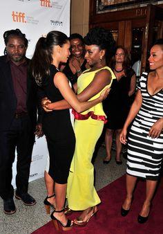 Thandie Newton with author of Half of A Yellow Sun - Chimamanda Adichie