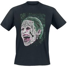 Joker Screaming - T-paita - Suicide Squad. L Koko