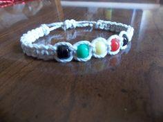Rasta hemp bracelet // hemp jewelry by CaliGirlCustoms on Etsy