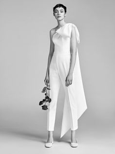 viktor and rolf spring 2018 bridal one shoulder bow pant jumpsuit wedding dress . viktor and rolf spring 2018 bridal one shoulder bow pant jumpsuit wedding dress mv modern clean -- Viktor Wedding Dress Trends, Best Wedding Dresses, Designer Wedding Dresses, Dress Wedding, Wedding Ideas, Wedding Suits For Bride, Chic Wedding, Wedding Summer, Trendy Wedding