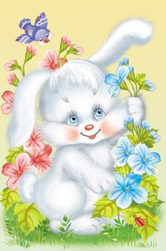 the land of bunnies Easter Pictures, Cute Pictures, Gif Mignon, Cute Gifs, Lapin Art, Bunny Images, Easter Wallpaper, Gif Animé, Vintage Easter