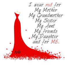 February is Heart Health Month. Wear red with Alpha Phi! Heart Health Month, Heart Month, Heart Awareness Month, Chd Awareness, Read Red, Red Day, American Heart Association, Little Red Dress, Go Red