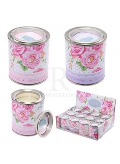 Floral Candle Tins  @ rosefields.co.uk