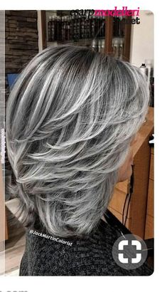 68 Ideas For Hair Color Gray Highlights Grey Haircuts hair highlights 68 Ideas For Hair Color Gray Highlights Grey Haircuts Medium Hair Styles, Short Hair Styles, Grey Hair Styles, Silver Hair Styles, Gray Hair Highlights, Pinterest Hair, Cool Hair Color, Wig Hairstyles, Hairstyles For Over 50