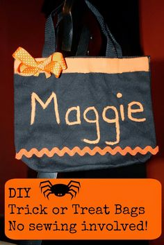Make Your Own Trick or Treat Bags