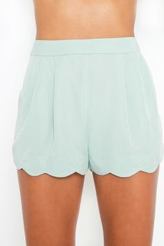 Minty Scallop Shorts  Style #: 10629 I want these. Can't wait to shop for a whole new wardrobe once I feel confident enough to wear whatever I want without fear of judgement!
