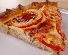Tarte thon, tomate et moutarde : Recette de Tarte thon, tomate et moutarde - Marmiton