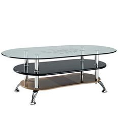 Modway Furniture  Absolute Coffee Table in Black Brown - EEI-802