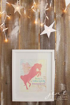 Unicorn Birthday Party Ideas - Unicorn Party Favor Sign - JenTbyDesign.com