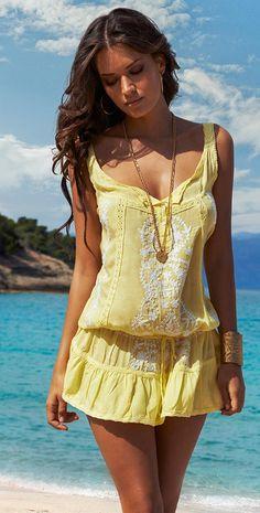 Melissa Odabash #2015 Jaz #Yellow #Dress