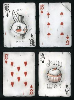 playing cards - you could make your own set one by one - or class set with each student making one themed or not