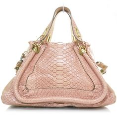 This is an authentic CHLOE Python Medium Paraty in pink.   This is a stunning large tote from Chloe that is crafted of fine python skin.