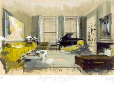 DEAN RHYS MORGAN Works on Paper - Artist Prints - Jeremiah Goodman - Dan Melnick Sitting Room