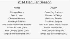 2014 Carolina Panthers Schedule