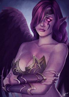 Morgana, Fallen Angel. +NSFW. by AdrianWolve