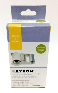 Xryon Create-a-sticker Adhesive Cartridge for Use With Xyron for sale online Create A Sticker, Stationary, Adhesive, Stickers, Ebay, Decals