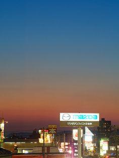 Twilight Skyline. Toyama, Japan.