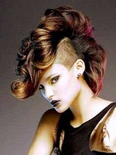 Highligh mohawk hairstyles - Women Braided and Mohawk Hair Style ...
