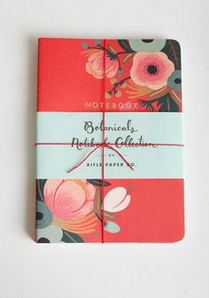 "Arboretum Bloom Notebook Set 12.99 at shopruche.com. A set of three, these paperback notebooks exude vintage-inspired elegance with rich covers and lined pages.6"" x 8.5"", 64 blank pages per notebook, Rifle Paper Co."