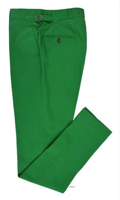 Brisbane Moss Emerald Green Twill     Summer pants in quirky shade.     Features: Slant pockets and standard extended closure with side metal adjusters.