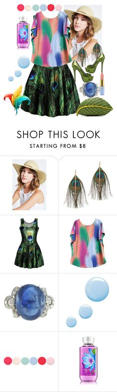 """""""Feathers"""" by vaslida ❤ liked on Polyvore featuring BCBGeneration, Serefina, Nancy Gonzalez, ShoeDazzle, Topshop, Disney and Nails Inc."""