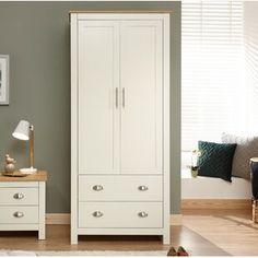 Crisfield 2 Door Wardrobe Beachcrest Home Colour: Cream Buy Wardrobe, Small Wardrobe, Bedroom Wardrobe, Ikea Wardrobe, Fitted Wardrobes, 3 Door Sliding Wardrobe, Hanging Rail, Small Drawers