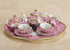De Kleine Wereld Museum of Lier: 172 Very Fine French Sevres Miniature Porcelain Tete-a-Tete