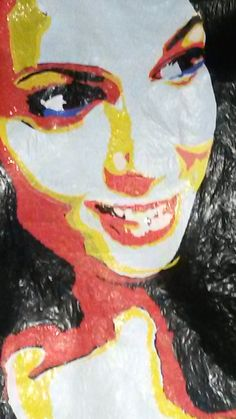 Portrait of my daughter- june 2015 plastic fused collage 60x40 cm https://www.facebook.com/GeskeaTextileArt  http://www.geskea.com/