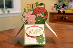 Scrapping Under the Influence: Flower Box Card @svgcuts #boxcard, #svgcuts