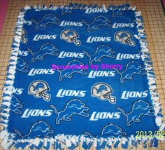 Detroit Lions Football Hand Tied Fleece Baby by Scrunchiesbysherry, $20.00