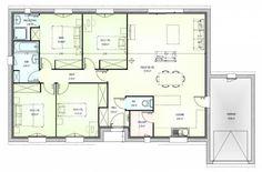 Plan maison neuve à construire - Marc Junior OPEN plain pied 103