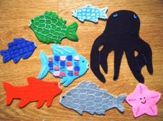 Felt Board Ideas: The Rainbow Fish