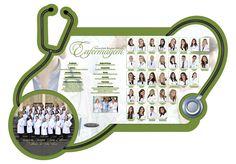 Placa de formatura em Acrílico turma de Enfermagem UnP 2015.2