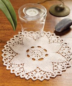 Knit Flower Doily - this is for when I'm a better knitter :) #redheartyarn