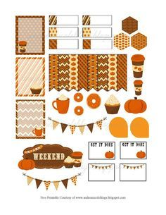 Andrea Nicole: Pumpkin Spice Planner Page Decoration Free Printab...