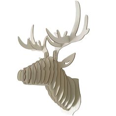 A.B Crew Vintage Style DIY 3D Puzzle Deer Head Wall Hanging Decor (White)