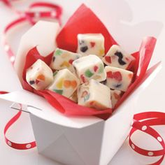 If so, consider making this fudge. It's not the traditional fudge.it's Gumdrop Fudge! Christmas Sweets, Christmas Candy, Christmas Fudge, White Christmas, Christmas Goodies, Christmas Lights, Christmas Tree, Fudge Recipes, Candy Recipes