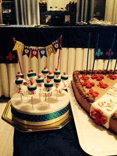 Knight cake pops